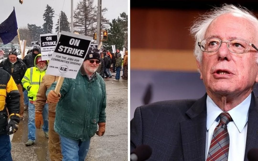 Bernie Sanders is the ONLY Candidate Standing With Striking Locomotive Workers