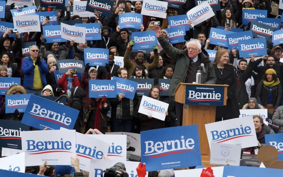 Bernie Sanders Supporters Out in FULL FORCE for 2020 Kickoff Rally
