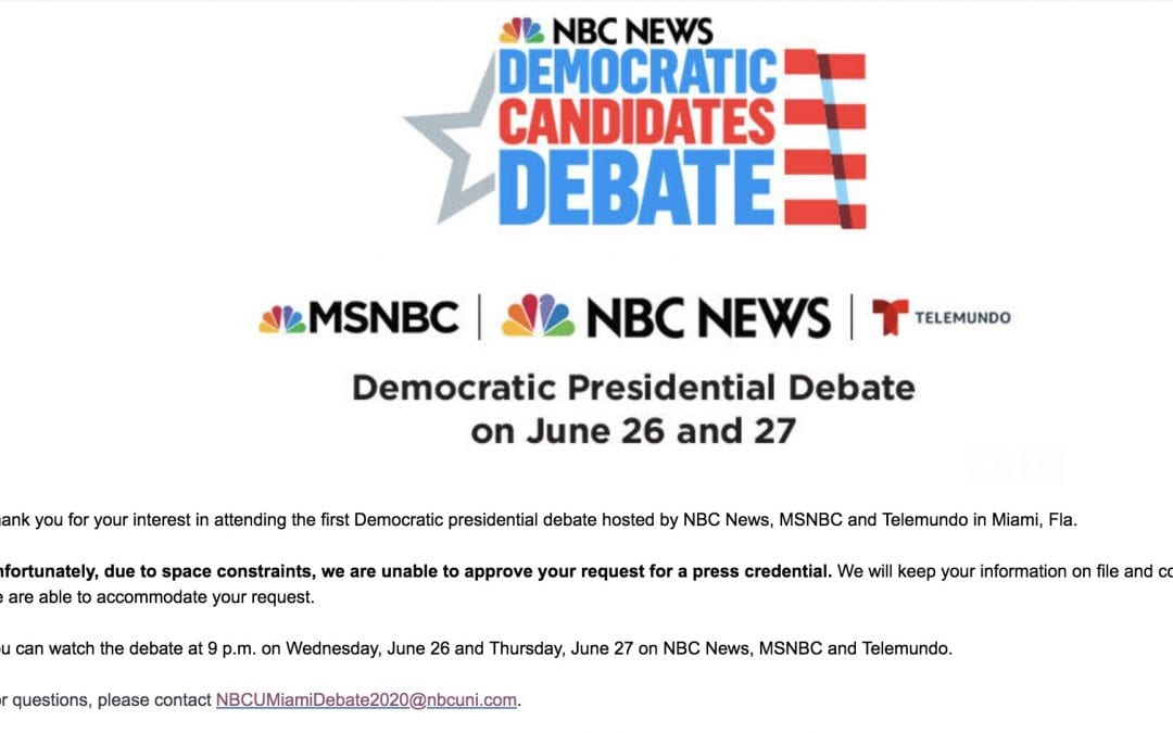 Jordan on NBC Denying Status Coup Media Credentials for Debates