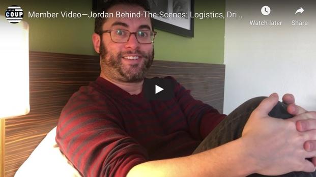 Member Video—Jordan Behind-The-Scenes: Logistics, Drive, and Hard Work