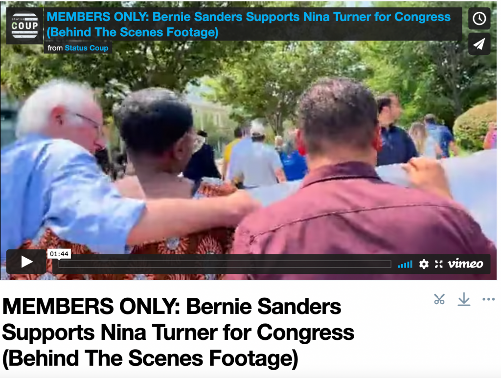 MEMBERS ONLY: Bernie Sanders Supports Nina Turner for Congress (Behind The Scenes Footage)