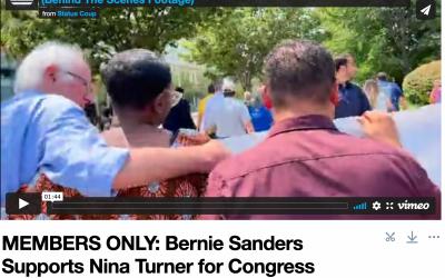 MEMBERS ONLY: Bernie Sanders Marches With Nina Turner (Behind The Scenes Footage)