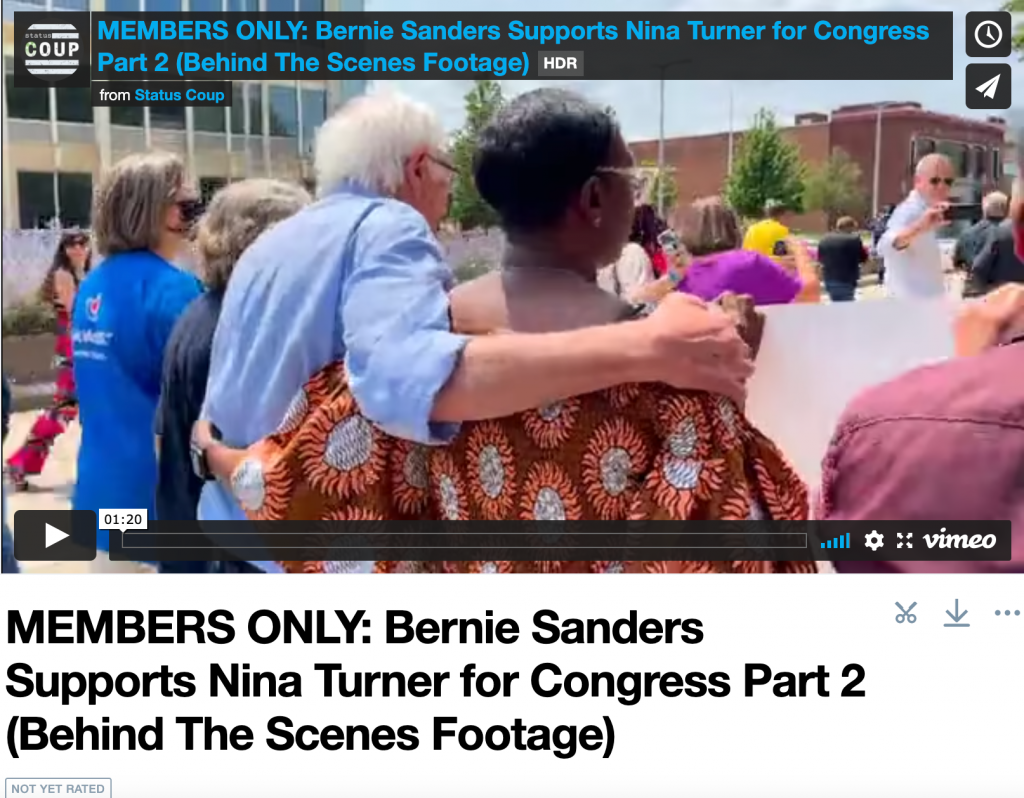 MEMBERS ONLY: Bernie Sanders Supports Nina Turner for Congress Part 2 (Behind The Scenes Footage)