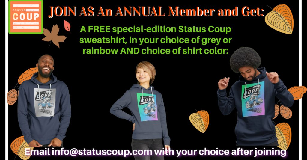 Join as an annual status coup member