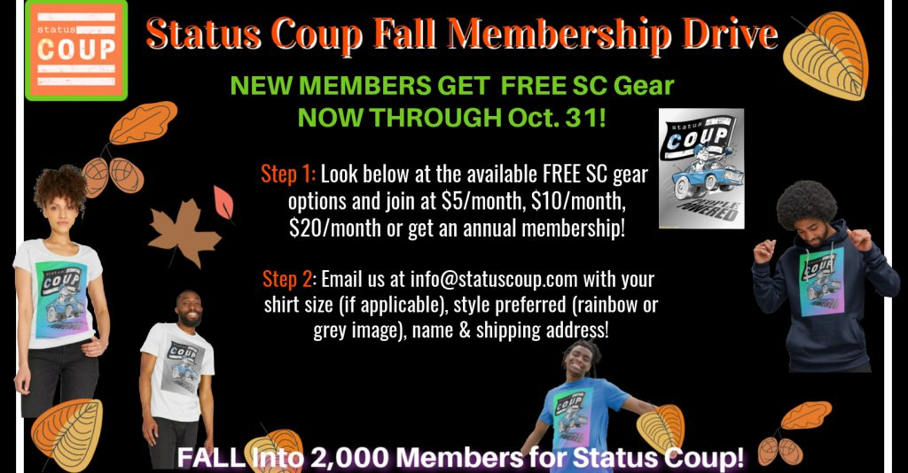Join Status Coup as a member and get free SC gear